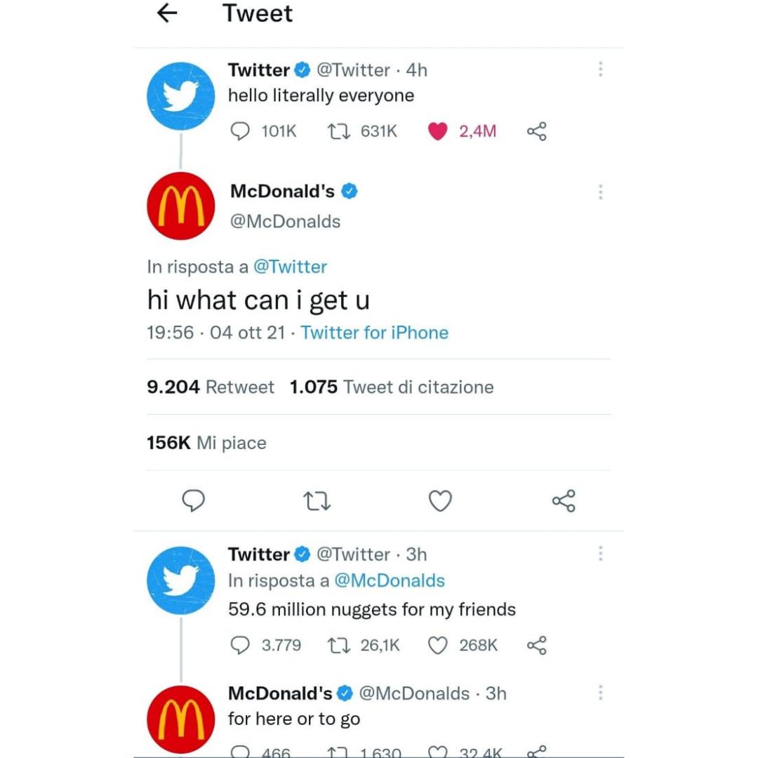 Twitter e MacDonald's